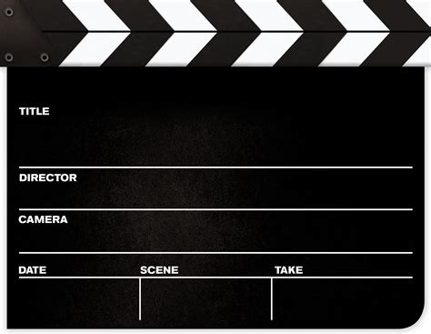 Hollywood Clapper Board Clipart Best Clapper Board Template Free