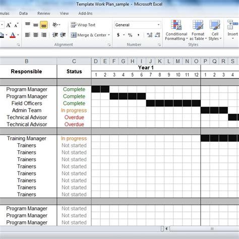 work plan template excel free work plan template tools4dev inside free excel work