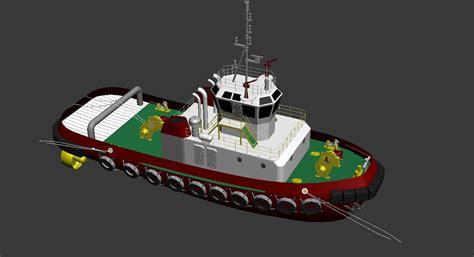 tugboat dwg 3d tugboat boat model