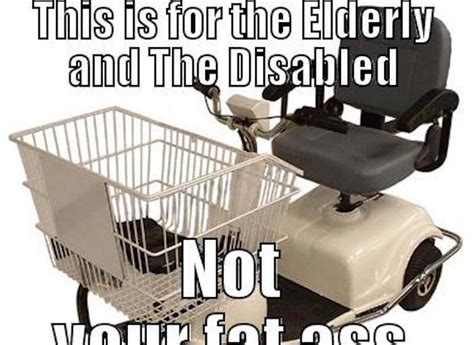 Shopping Cart Meme - to those who share the meme about using disabled shopping