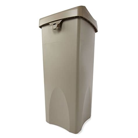 trash can swing lid new rubbermaid commercial 23 gallon untouchable trash can