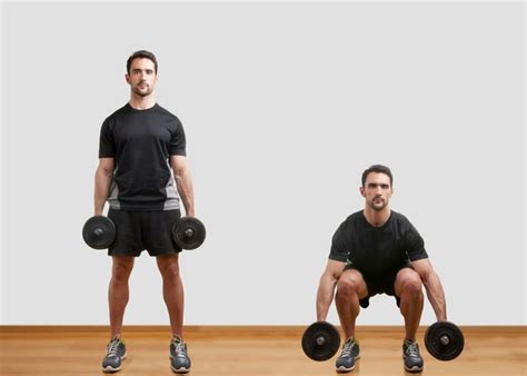 bodyweight squats vs dumbbell squats livestrong