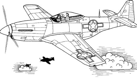 coloring mustang aircraft picture aviation art