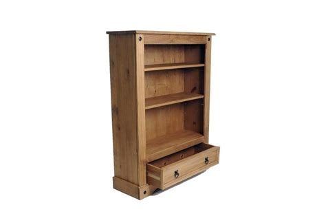 Robinson Furniture Store by Corona 1 Drawer Low Bookcase Wood Mexican Pine New Ebay