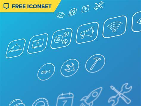 mobile developer iconset freebie  sketch