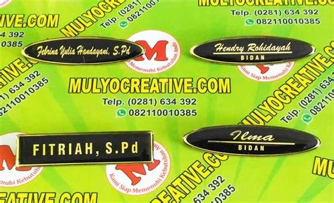 Badge Logo Bordir Laba Laba Hitam buat name tag bidan nama dada bidan pesan name tag lencana pin plakat lycal resin atribut
