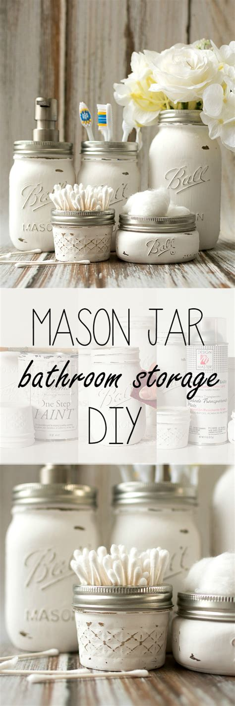 bathroom craft ideas mason jar bathroom storage accessories mason jar