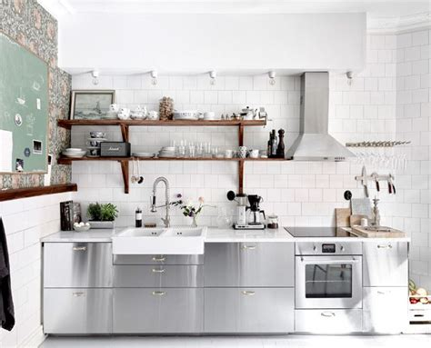 stainless steel kitchen cabinets ikea the most stylish ikea kitchens we ve seen mydomaine