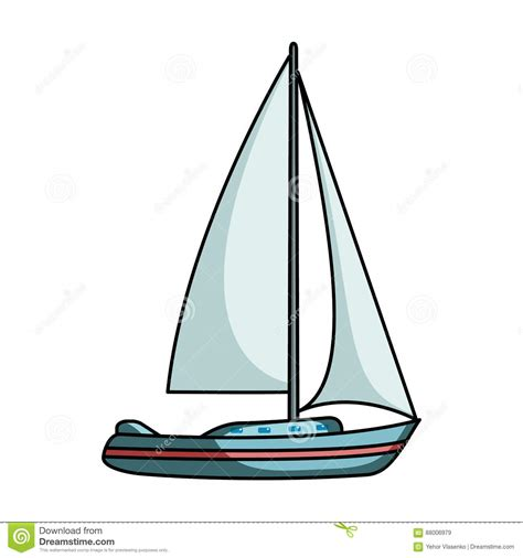 cartoon sailboat on water sailboat for sailing boat to compete in sailing ship and