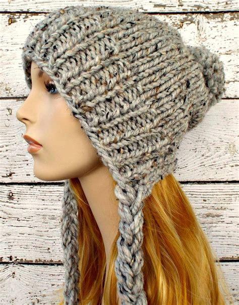 loom knit earflap hat knitting pattern for slouchy earflap hat the