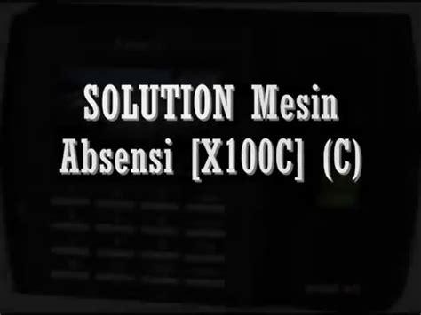 Murah Mesin Absensi Solutiin X100 C mengatasi memori penuh pada mesin absensi solution x100 c