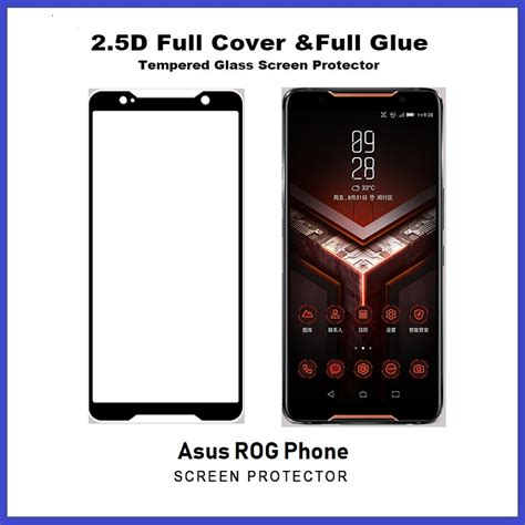 asus rog phone rog phone  full glue coverage tempered glass screen protector