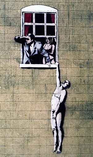banksy painting facts street art facts for kids kidzsearch