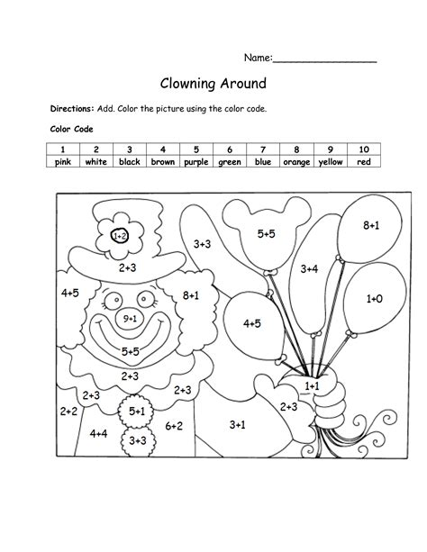 color by addition 19 best images of color code math worksheets color by