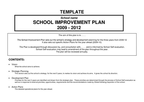 business process improvement plan template professional growth plan template for teachers hvac