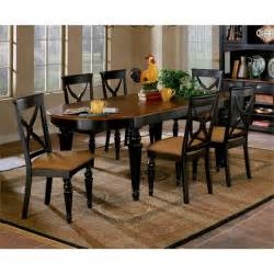 Black Dining Table Set Northern Heights 5 Oval Dining Table Set In Black