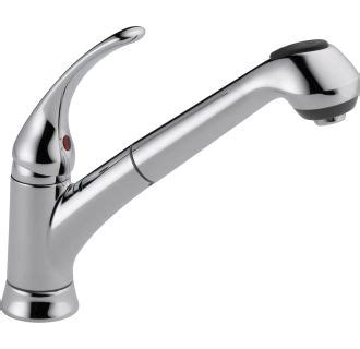 delta kitchen faucet warranty faucet b4310lf in chrome by delta