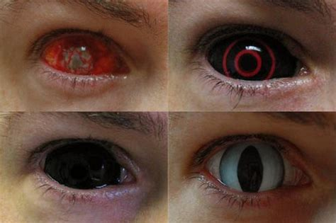 creepy colored contacts contacts lenses funnymadworld