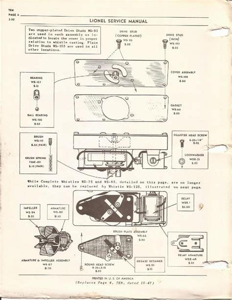 lionel parts list and exploded diagrams lionel engine parts diagram images