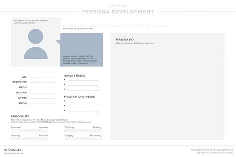 12 Days Of Uxmas Day 4 Outline Some User Personas Designlab User Persona Template