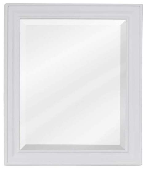white frame bathroom mirror elements douglas bath mirror white frame 20 inch x 1 inch