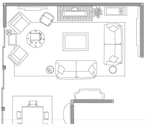 Living Room Floor Plan Drawing Design With A Plan Intentionaldesigns