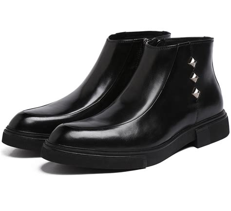 mens designer black boots designer mens ankle boots black brown mens business boots