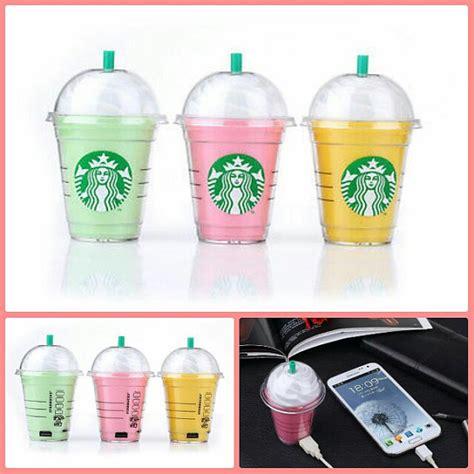 starbucks frappuccino portable charger power bank