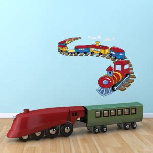 on a track wall sticker removable wall stickers