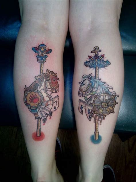 rocking horse tattoo carousel tattoos carousel