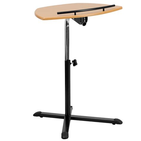 Adjustable Height Computer Desk Workstation Height Adjustable Laptop Computer Desk With Finish
