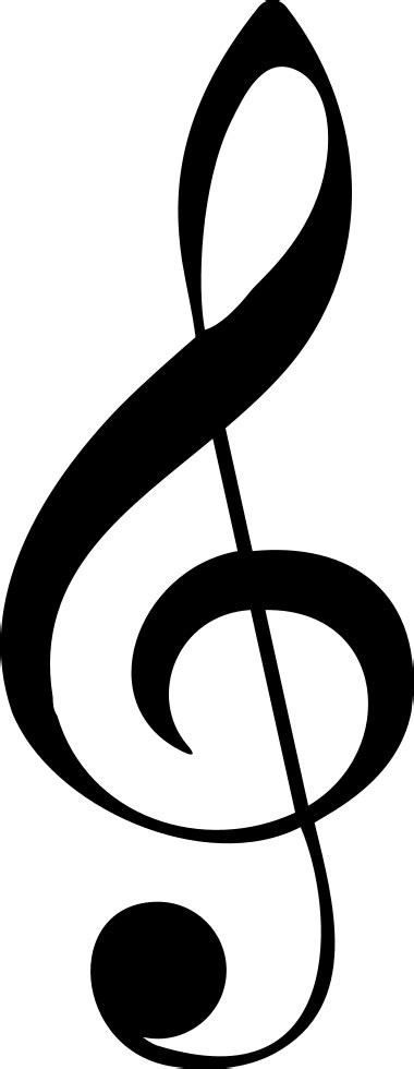 clef musical note svg png icon