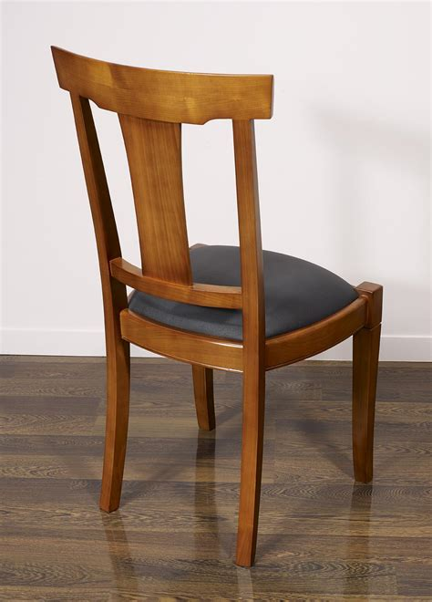 chaises de style chaise lou en merisier massif de style louis philippe