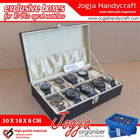 Kotak Jam Tangan Exclusive exclusive large size box with lock kotak tempat