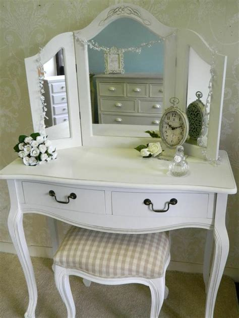 dressing table mirror stool shabby french style vintage