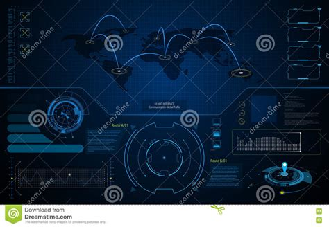 abstract background vector stock vector illustration of concepts 4369246 abstract ui hud interface screen global communication technology concept template background