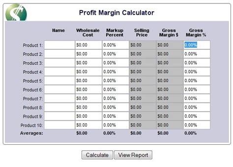 margin vs markup table profit margin calculator retail pinterest java
