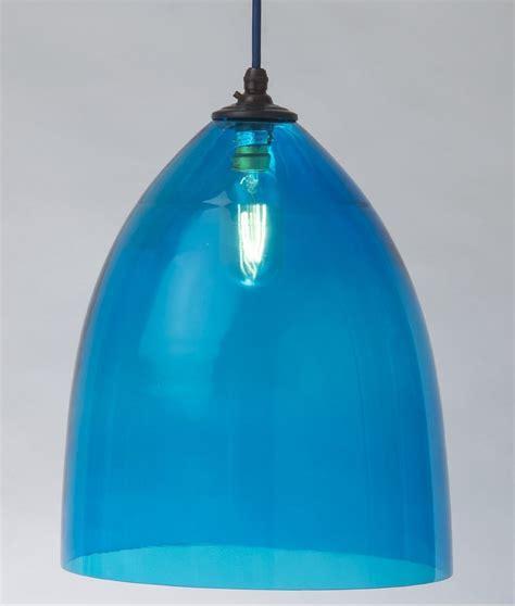 Sky Blue Hand Blown Glass Shade Pendant A Fantastic Light