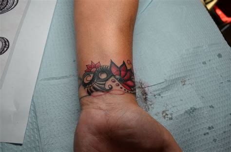 tattoo cover up on wrist wrist cover up tribal tattoos lita edwards red tattoo