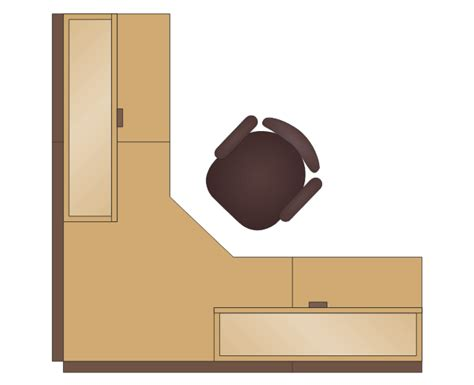 Kitchen Design Layout Ideas L Shaped cubicles and work surfaces vector stencils library