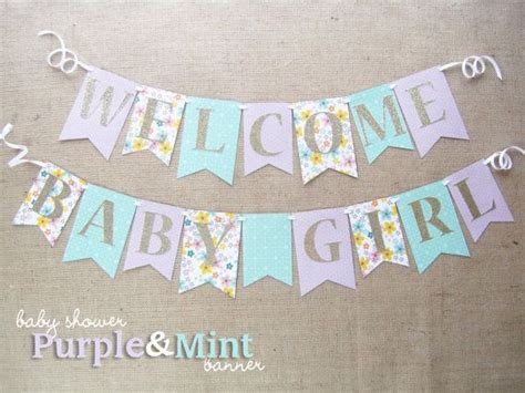 Purple Baby Shower Banner by Best 25 Gold Baby Showers Ideas On Baby