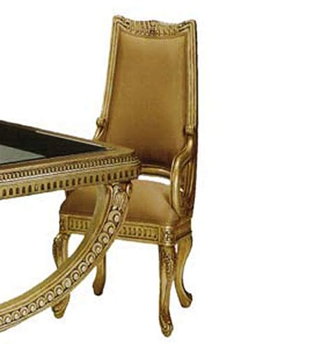 bt 300 traditional italian antiqued gold dining arm chair