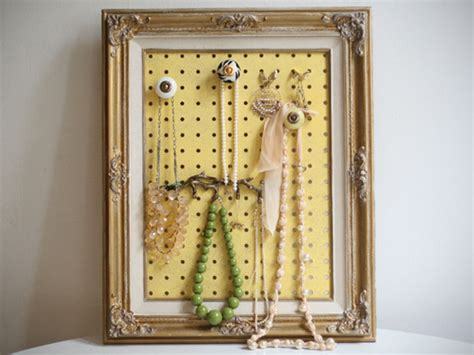 make a jewelry holder diy framed jewelry organizer