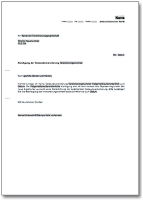 Anschreiben Adrebe Email K 252 Ndigung Geb 228 Udeversicherung De Musterbrief