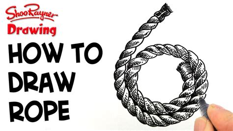 How To Make A Number 4 Knot - how to draw coiled rope clock 6