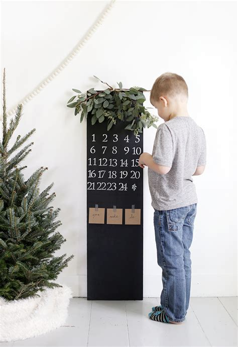 diy chalkboard thought diy chalkboard advent calendar 187 the merrythought