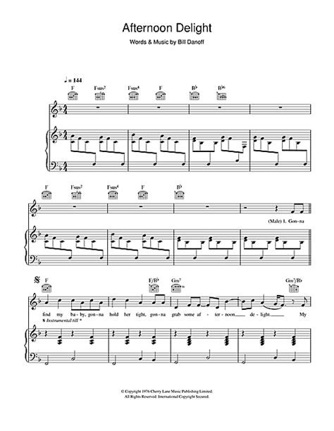 Afternoon Delight Guitar Chords