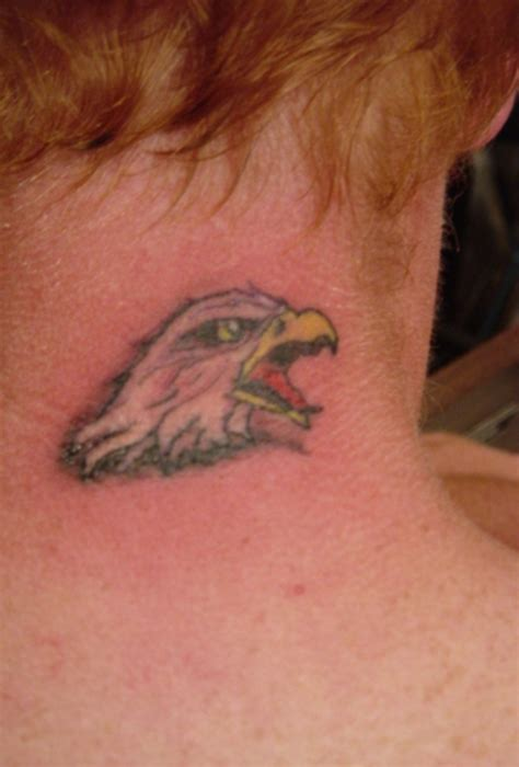 small eagle tattoos 35 awesome eagle neck tattoos