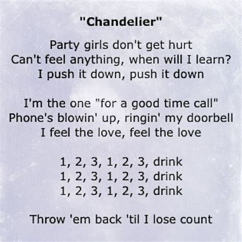 Lyrics Of Chandelier Best 25 Chandelier Lyrics Ideas On Pinterest Sia Lyrics Elastic And Sia Songs