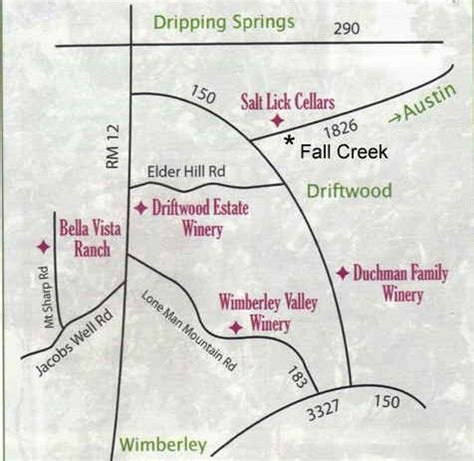 texas wine map driftwood wine trail texas uncorked
